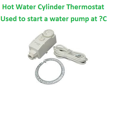 Hot Water Cylinder Thermostat Flow Switch