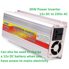 20amp Battery Charger + 2kw Inverter