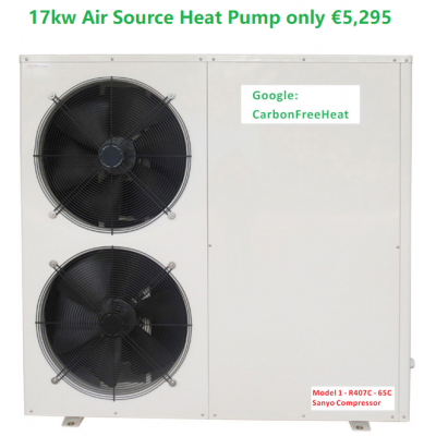Retro Fit 17kw Air Source Heat Pump